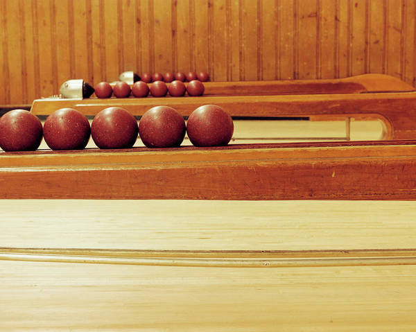 Ten Pin Bowling Wall Art - Photograph - Bowling Balls by Mark Leary