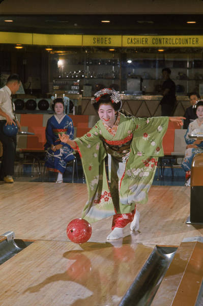 Bowling Alley Photograph - Bowling In Kyoto by Larry Burrows