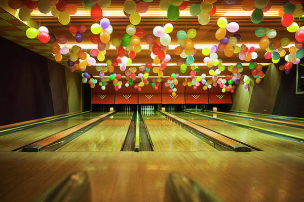Ten Pin Bowling Wall Art - Photograph - Bowling by Olive
