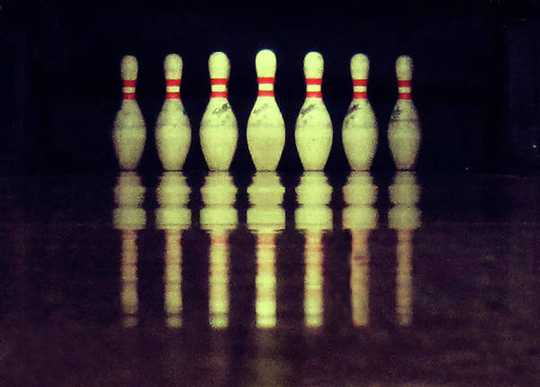 Repetition Photograph - Bowling Pins by Christoph Hetzmannseder