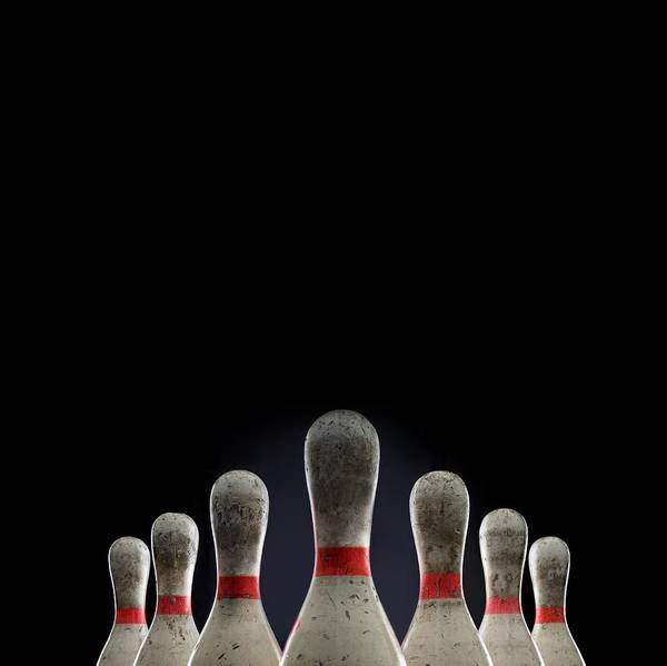 Ten Pin Bowling Wall Art - Photograph - Bowling Pins Top Half Only by Rubberball/mike Kemp
