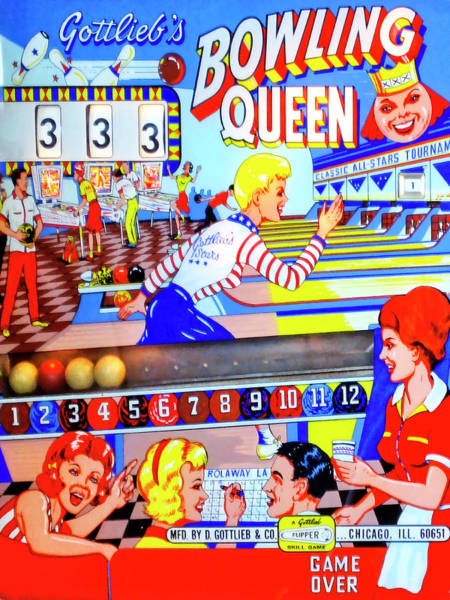 Wall Art - Photograph - Bowling Queen Pinball by Dominic Piperata