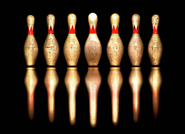 Ten Pin Bowling Wall Art - Photograph - Bowling Tenpins by Dhwee