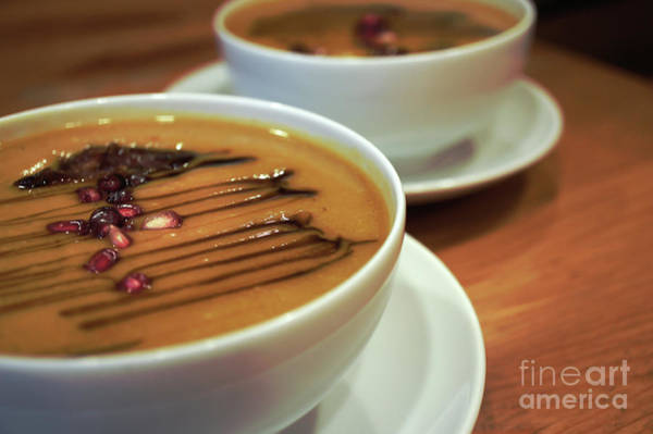 Wall Art - Photograph - Bowls Of Pumpkin Soup  by Tom Gowanlock