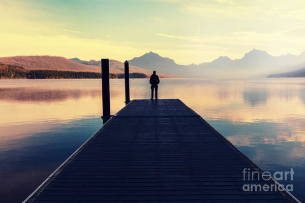 Wall Art - Photograph - Bowman Lake In Glacier National Park by Galyna Andrushko