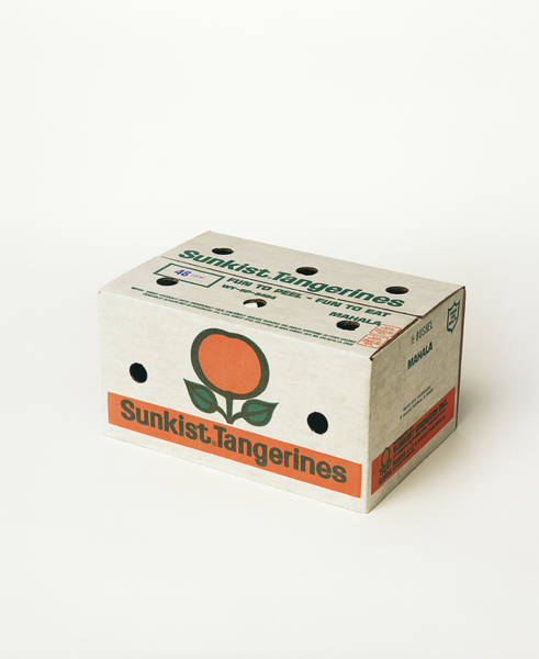 Photograph - Box Of Tangerines On White Background by Tom Kelley Archive