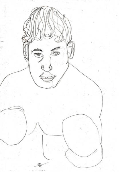 Drawing - Boxer by Artist Dot
