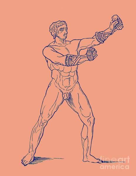 Sportsman Digital Art - Boxer, Illustration For Olympia By Adolf Boetticher, 1886 by English School