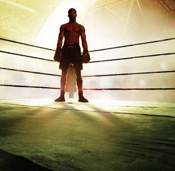 Boxing Photograph - Boxer Standing In Corner Of Ring by Gandee Vasan