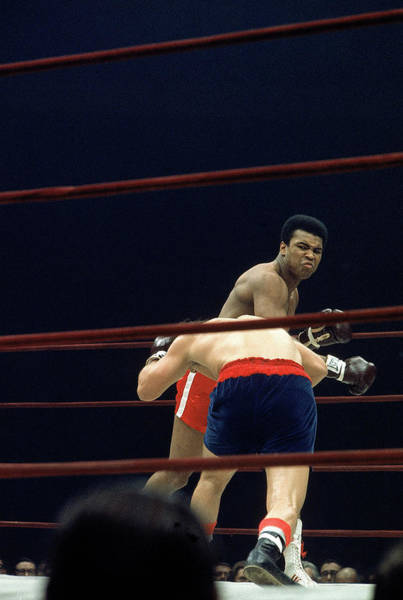 Muhammad Ali Photograph - Boxers Cassius Clay R And Oscar by Bill Ray