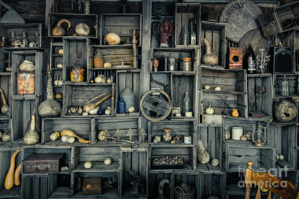 Wall Art - Photograph - Boxes With Old Items, Yarra Valley by Mark Galer