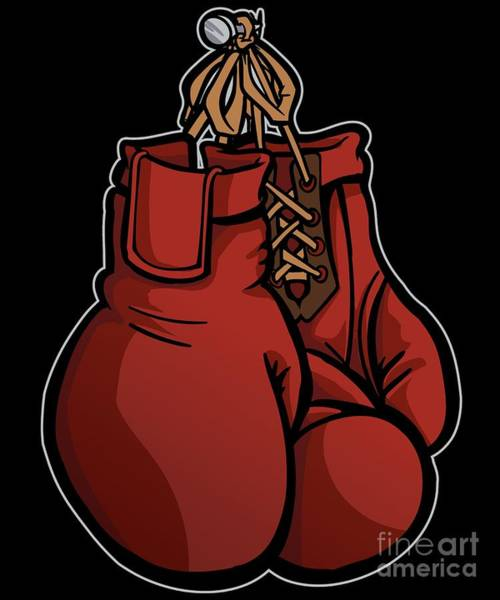 Amateur Digital Art - Boxing Gloves Illustration by Siegfried Czerny