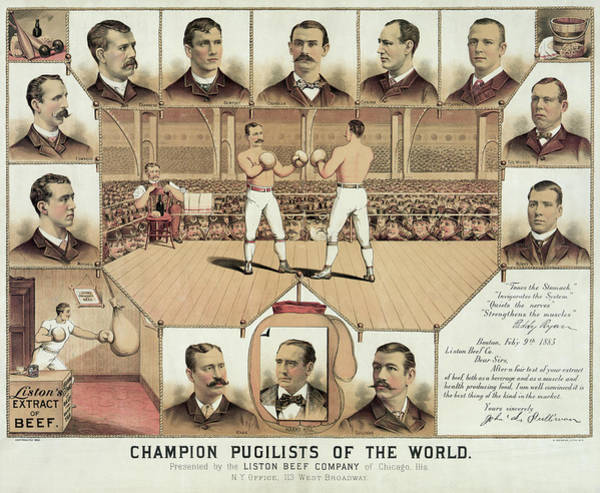 Wall Art - Photograph - Boxing World Champions 1885 by Daniel Hagerman