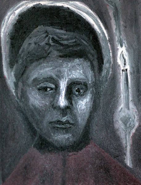 Painting - Boy And A Candle by Artist Dot