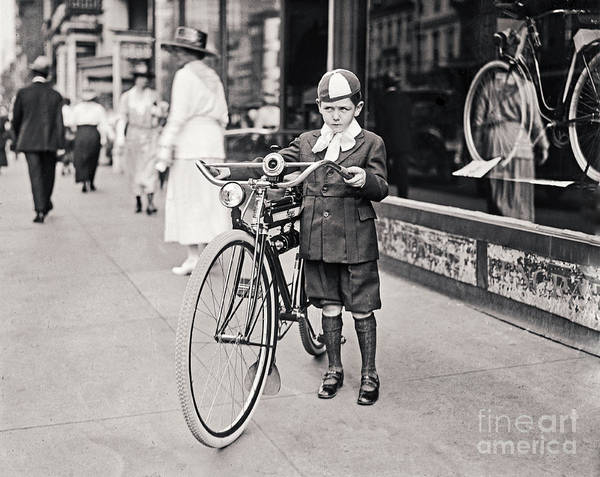 Photograph - Boy And New Bicycle by Carlos Diaz