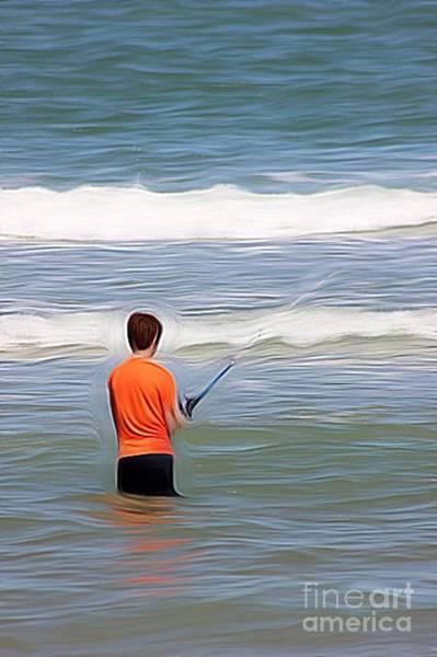 Wall Art - Photograph - Boy Fishing by Mesa Teresita