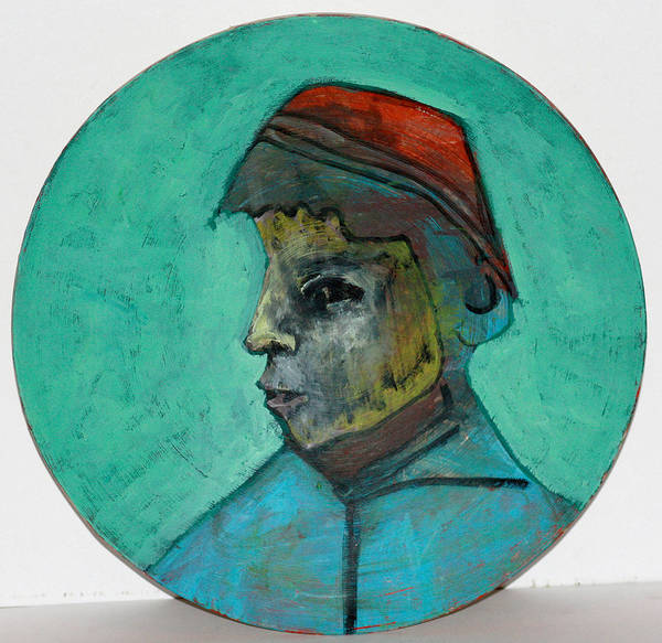 Photograph - Boy In A Red Hat by Artist Dot