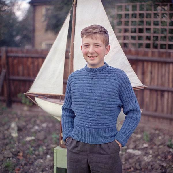 Sweater Photograph - Boy In Blue by Chaloner Woods