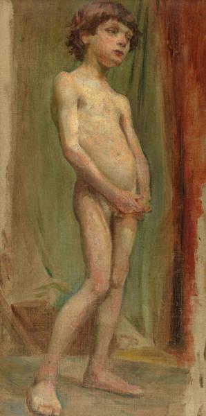 Sicily Painting - Boy, Nude, 1894 by Stanislaw Wyspianski