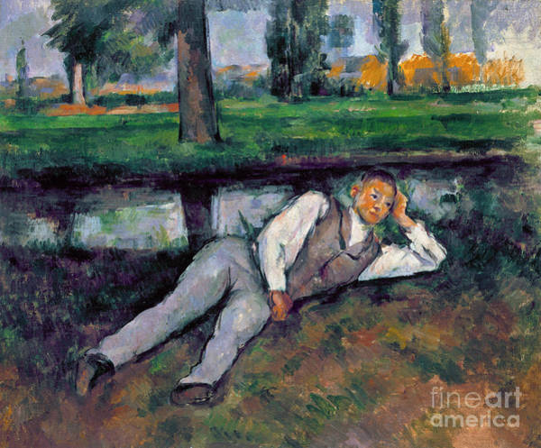 Wall Art - Painting - Boy Resting, C1885 by Paul Cezanne
