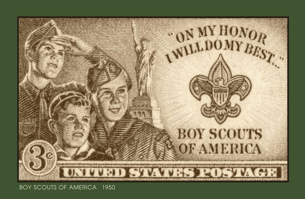 Post Wall Art - Digital Art - Boy Scouts 1950 by Greg Joens