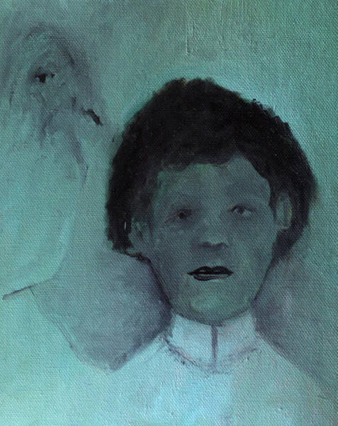 Painting - Boy With A Bird by Artist Dot