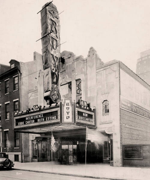 Photograph - Boyd Theater by Irvin R Glazer