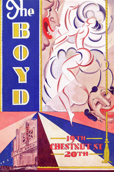 Mixed Media - Boyd Theatre Playbill Cover by Lau Art