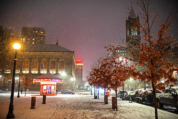 Photograph - Boylston Street In The Winter Boston Ma by Toby McGuire