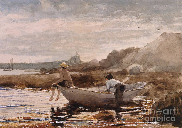 Wall Art - Painting - Boys In A Dory, 1880  by Winslow Homer