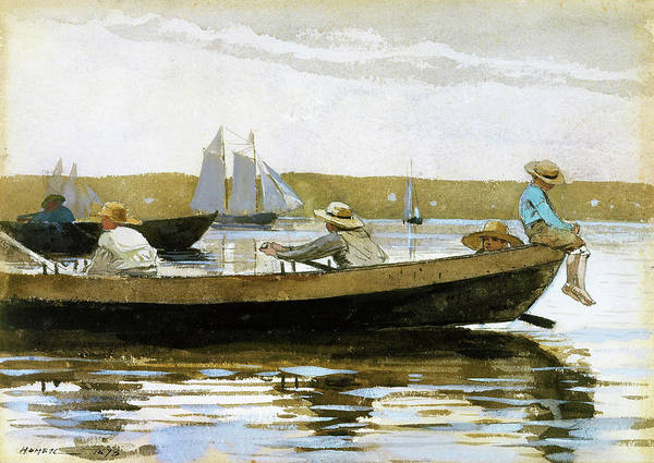 Wall Art - Painting - Boys In A Dory - Digital Remastered Edition by Winslow Homer