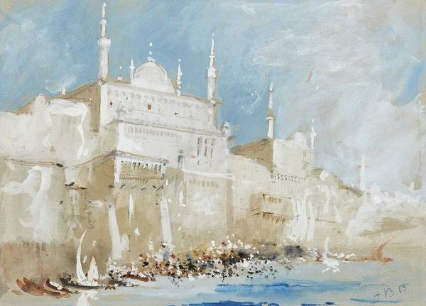 Wall Art - Painting - Brabazon Brabazon,  View In Istanbul by Celestial Images