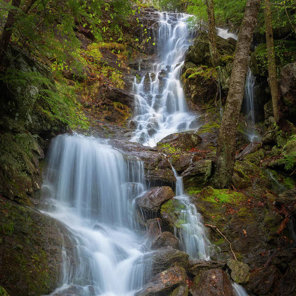 Wall Art - Photograph - Brace Mountain Falls Ny Square by Bill Wakeley