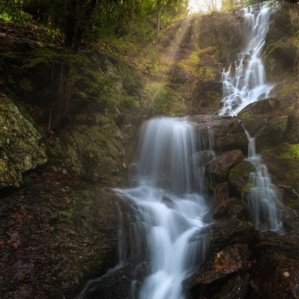 Wall Art - Photograph - Brace Mountain Falls Square 2 by Bill Wakeley
