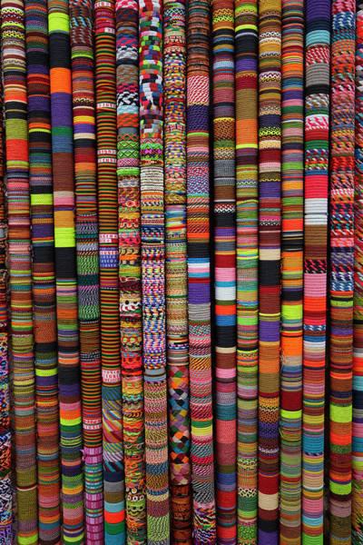 Wall Art - Photograph - Bracelets At Handcraft Shop, Cusco, Peru by David Wall