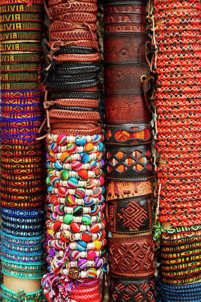 Senora Photograph - Bracelets At Shop In Witches Market, La by David Wall