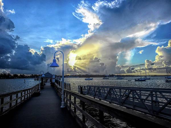 Photograph - Bradenton Beach City Pier At Sunrise by Robert Stanhope