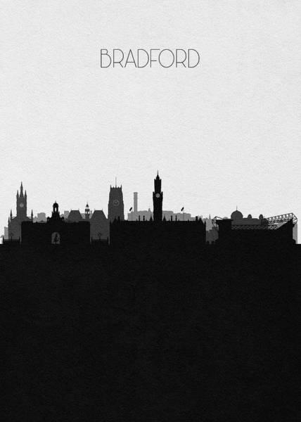 Digital Art - Bradford Cityscape Art by Inspirowl Design