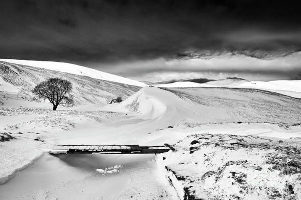 Photograph - Braemar Pass In Winter Monochrome by Tim Gainey