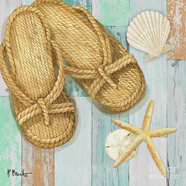 Wall Art - Painting - Braided Sandals I by Paul Brent