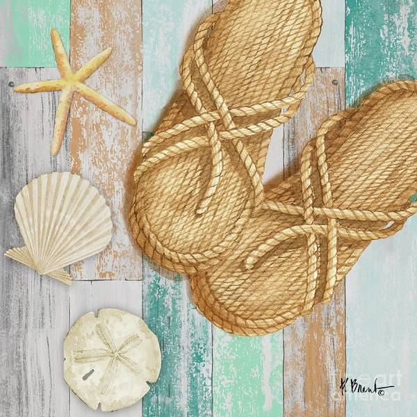 Wall Art - Painting - Braided Sandals II by Paul Brent