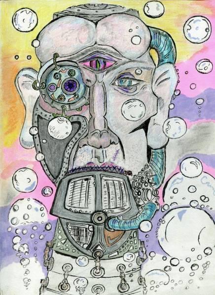 Wall Art - Drawing - Brain In A Jar by David Sokol
