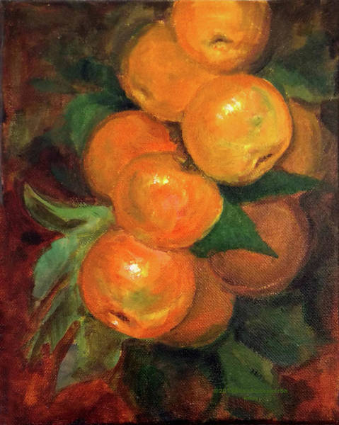 Painting - Branch Of Clementines by Asha Sudhaker Shenoy
