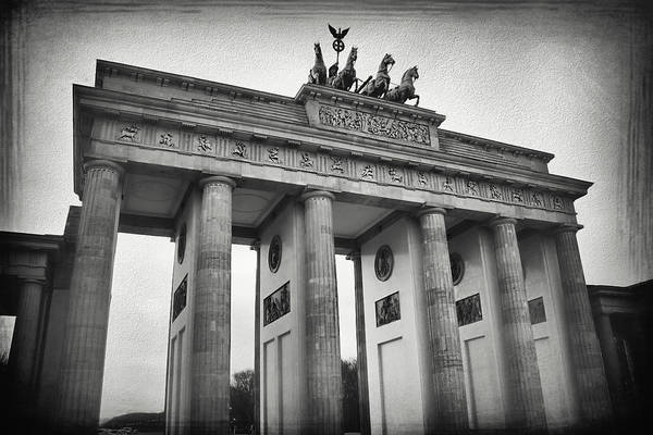 Deutschland Photograph - Brandenburg Gate Berlin Germany Black And White by Carol Japp