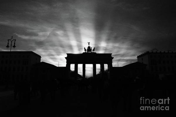 Wall Art - Photograph - Brandenburg Gate Berlin Landmark Silhouette by Stefano Senise