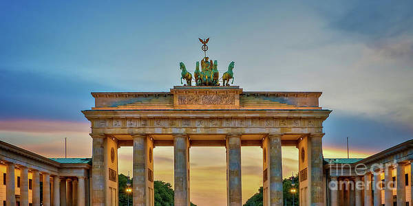 Wall Art - Photograph - Brandenburg Gate In Berlin by Delphimages Photo Creations