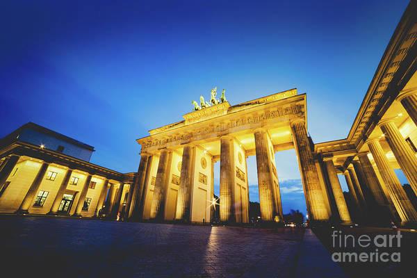Photograph - Brandenburg Gate In Berlin, Germany At Night. by Michal Bednarek