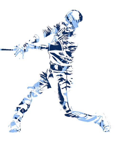 Wall Art - Mixed Media - Brandon Lowe Tampa Bay Rays Pixel Art 1 by Joe Hamilton