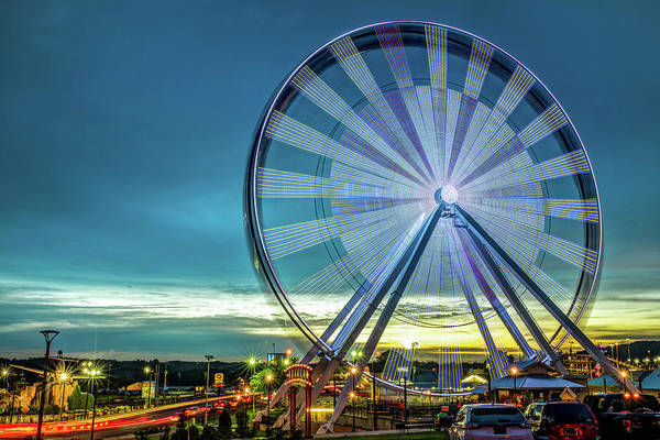Wall Art - Photograph - Branson Ferris Wheel At Dusk On The Strip by Gregory Ballos