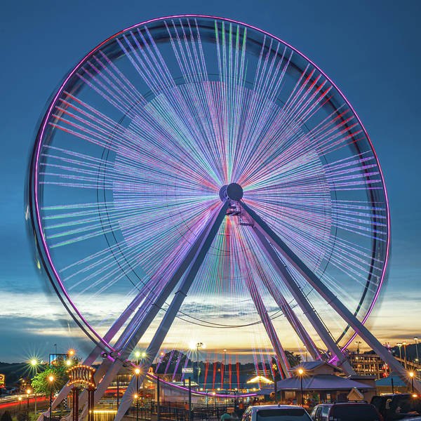 Photograph - Branson Ferris Wheel In Color 1x1 by Gregory Ballos